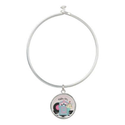 Nifty 50 Diner Birthday Bangle Charm Bracelet - jewelry jewellery unique special diy gift present
