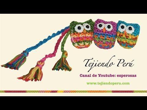 Cómo tejer un marcador de libros con búho a crochet (+playlist)