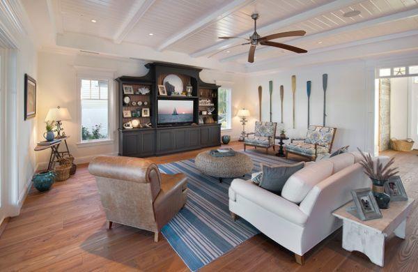 Decorative Wooden Oars Interior Design   Nautical Handcrafted Decor Blog