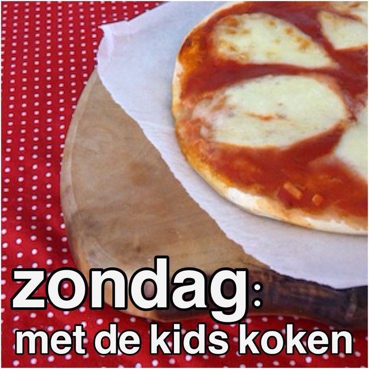 Het recept voor regenachtige zondagen: zo maak je samen met de kids pizza of pasta!  Makkelijke recepten voor verse pizza en pasta, met variaties.