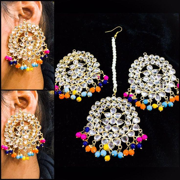 Buy this Maangtika Earrings set from instagram:: i_heartfashionstore Pinterest • @KrutiChevli