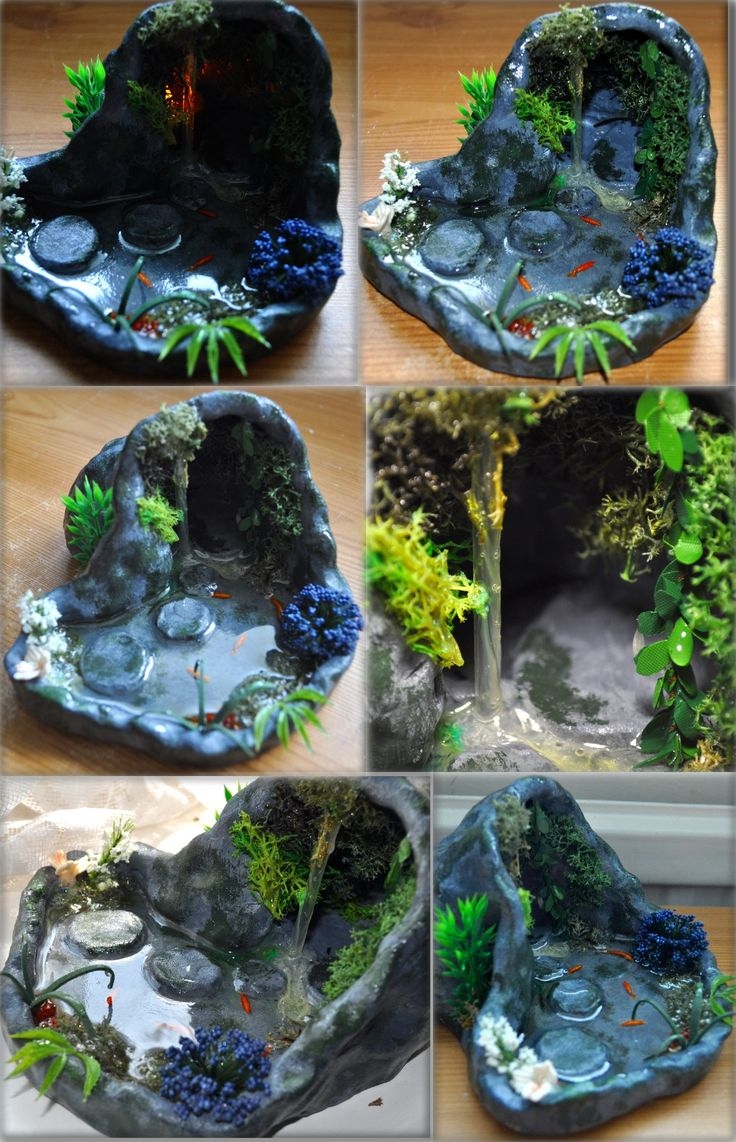 Large Grotto with Stepping Stones 12th Scale by Forestina-Fotos.deviantart.com on @deviantART