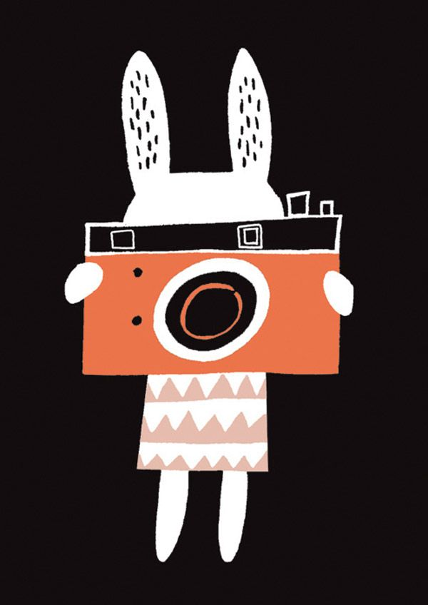 Becky Baur's adorable bunny with camera print - so sweet! #kids #print