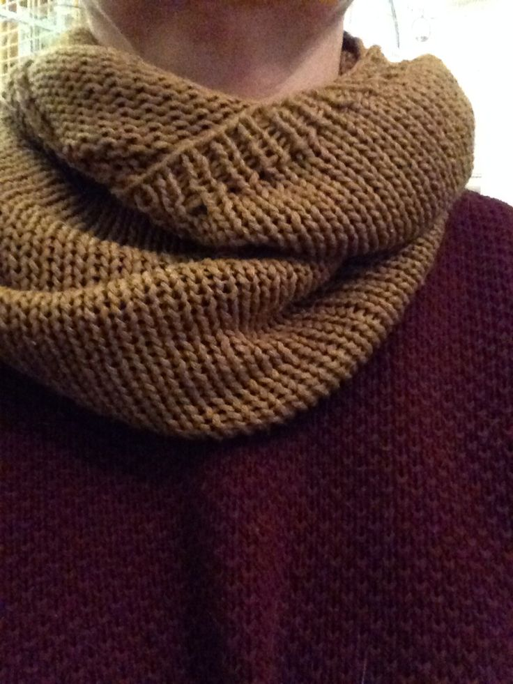 Upcycle - cowl from old sweater
