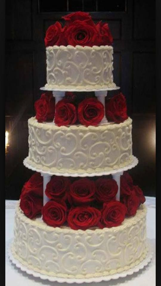 705 best wedding cakes misc stacked cakes images on pinterest she wants this but the smooth white fondant of the other cake but she likes the shape and height of this cake better junglespirit Images