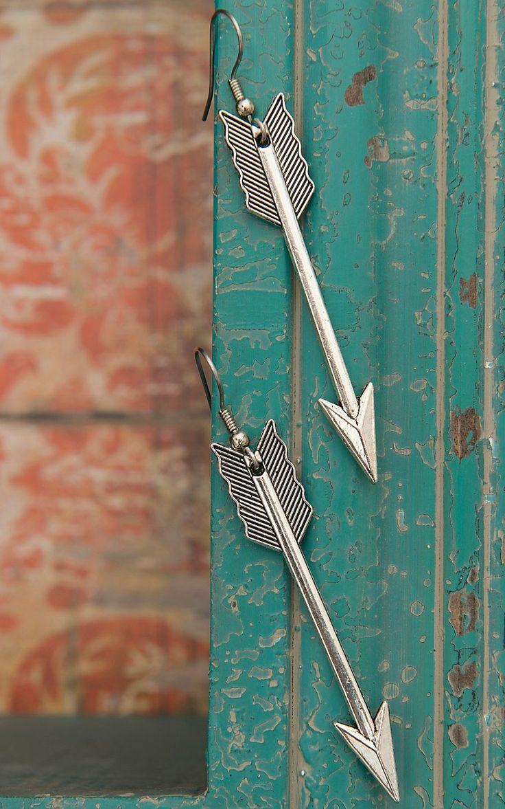 Crazy Train Silver Arrow Earrings | Cavender's