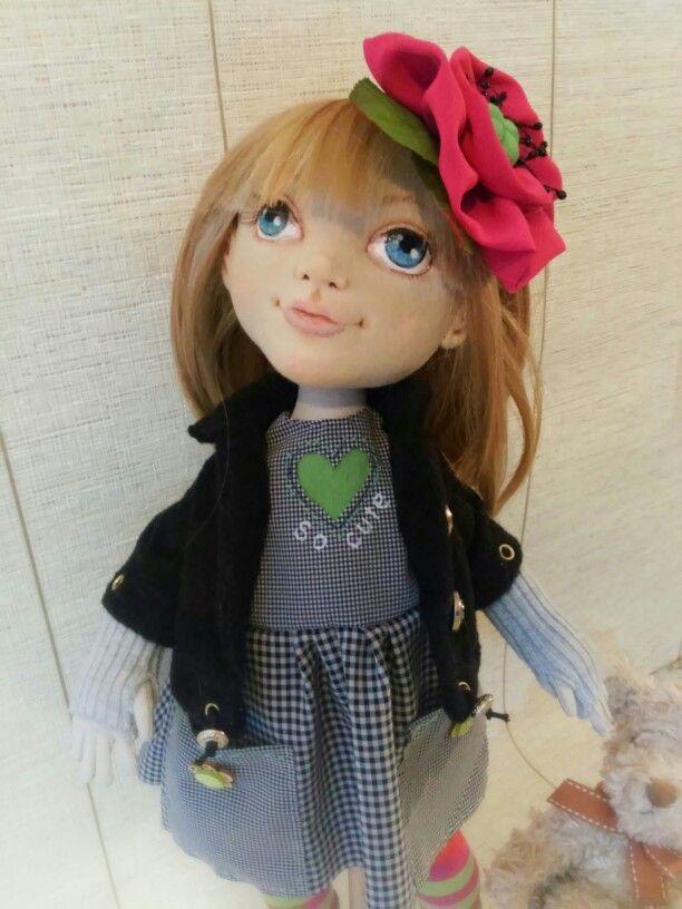 Текстильная кукла София от Елены Гиббонс