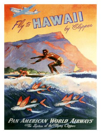 Fly to Hawaii by Clipper - Pan American World Airlines