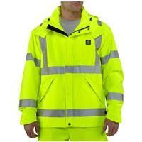 Carhartt® High-visibility Class 3 Waterproof Jacket, Brite Lime