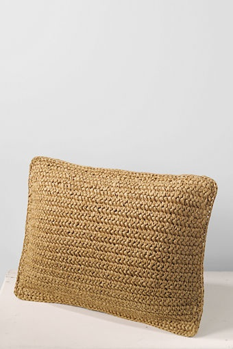 "12"" x 16"" Natural Fiber Decorative Pillow Cover    Item # 40104-1A66    $ 30.00"