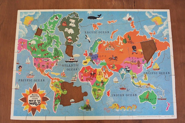 9 best map puzzle usa images on pinterest puzzles maps and puzzle picnics in the park design notesvintage milton bradley world map puzzle i gumiabroncs Image collections