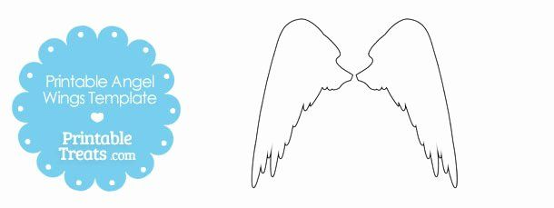Angel Wing Templates Awesome Free Printable Angel Wings Download Free Clip Art Free In 2020 Templates Template Printable Estimate Template