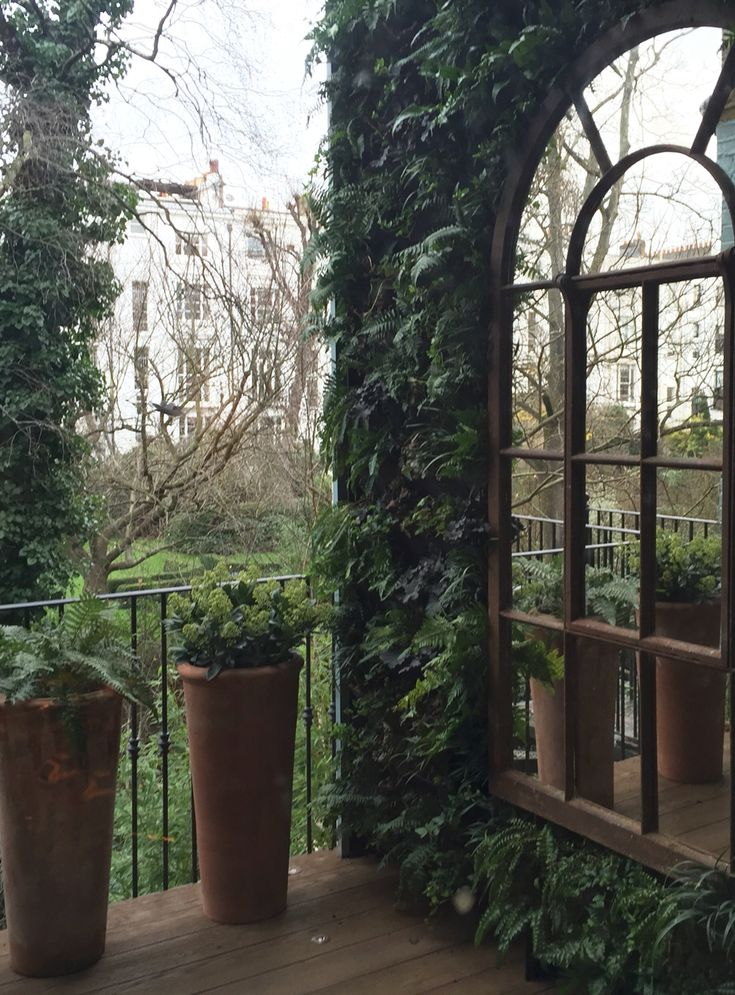 Tall Full Arch Rustic Garden Mirror
