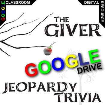 This 26-slide Google Drive Jeopardy Trivia Competition is a fantastically fun review activity after you finish reading The Giver novel. These comprehension questions will build some enjoyable competition between students (or teams of students).Categories of Giver Questions:> The Rules> The Characters> The Memories> The Plot> The World's ProblemsWhat is Created for Digital?