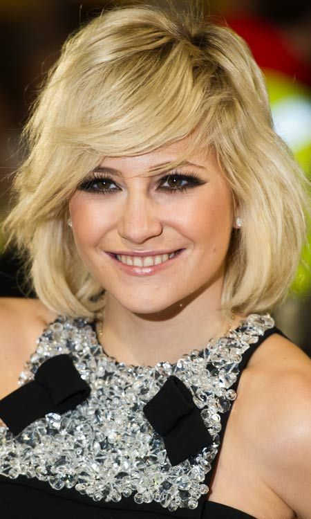 Shaped Bob Hairstyles - Thick Layered Bob with Short Side Bang