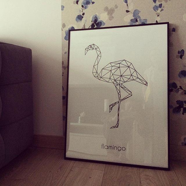 Nasz flaming :)  #flamingo #scandinaviandecor #scandiposter #poster #walldecor #walldesign