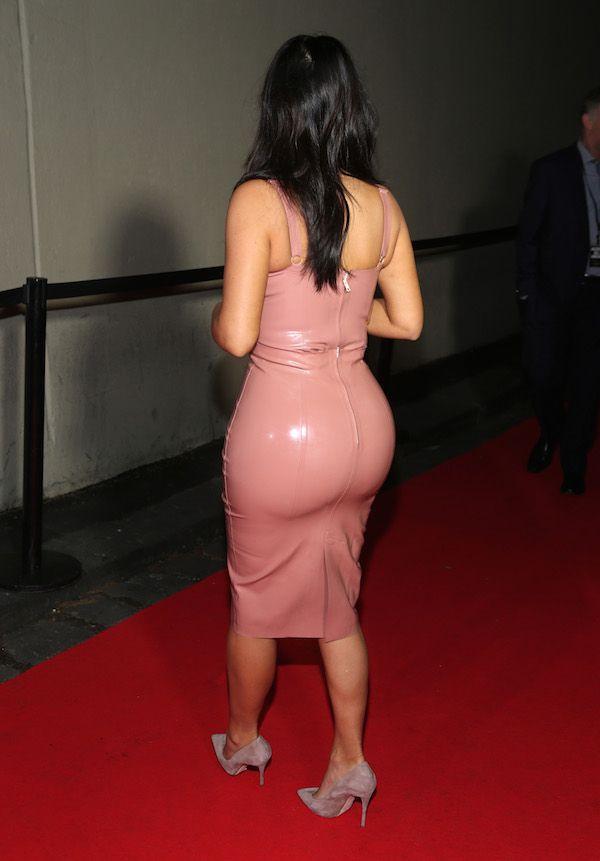 Photo de Kim Kardashian en latex