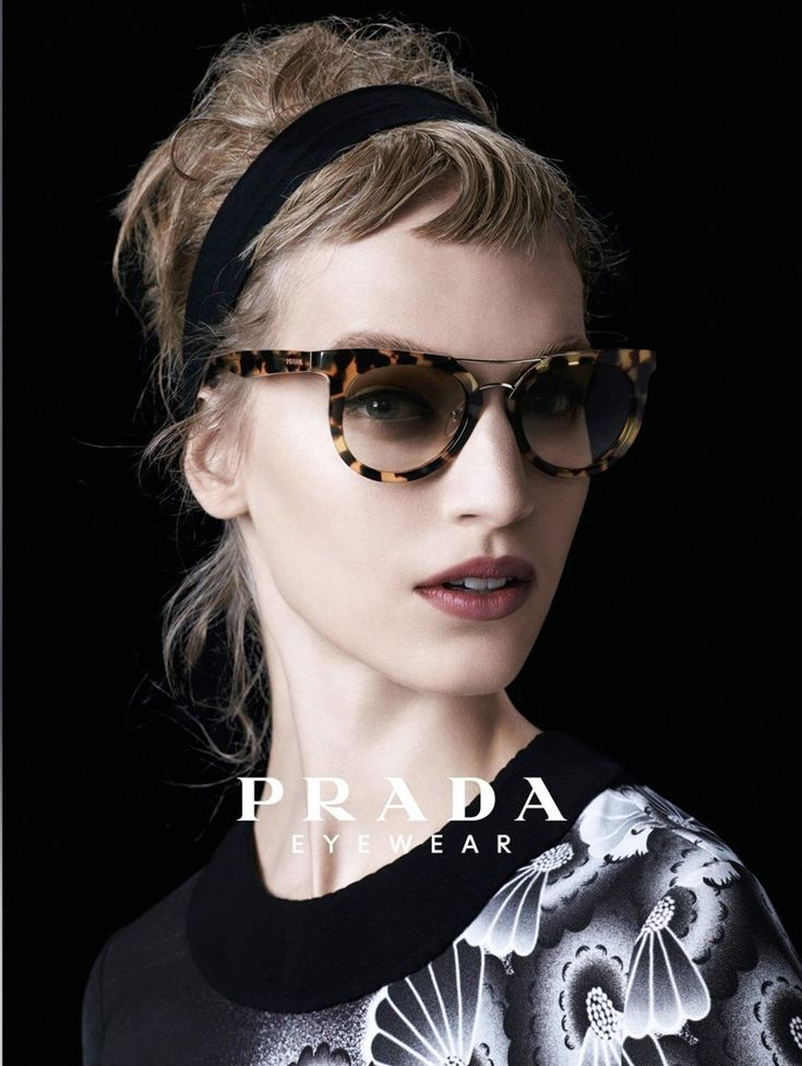 PRADA  EYEWEAR   SPRING/SUMMER 2013 PRINT AD CAMPAIGN | FOR WOMEN     MODELS  - Amber Valletta / Eva Herzigova / Irene Hiemstra / Irina Kra...