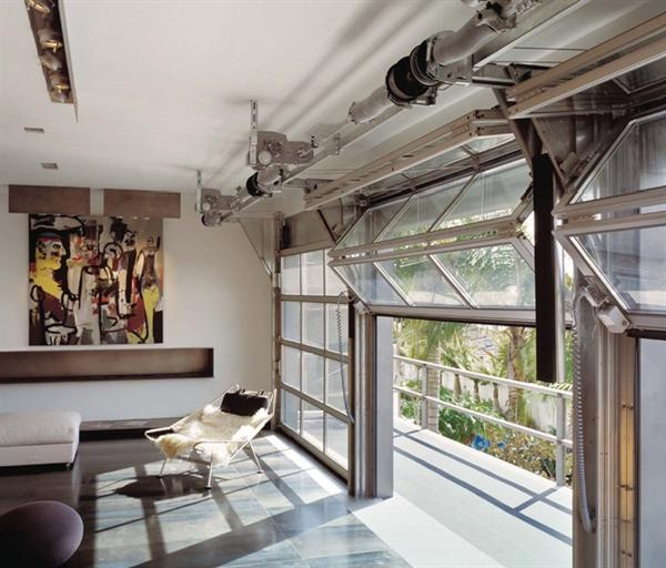 Fire Escape Residentialarchitect Magazine Garage Doors Garage Door Styles Glass Garage Door