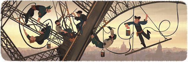 El emblema de Francia, la Torre Eiffel, cumplió 126 años de haberse inaugurado, por lo que varias páginas relacionadas a la cultura gala y a la misma edificación, así como Google, hicieron mención gráfica del aniversario.