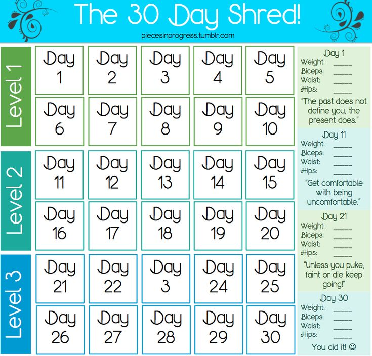 I love doing Jillian Michaels 30 day shred!: