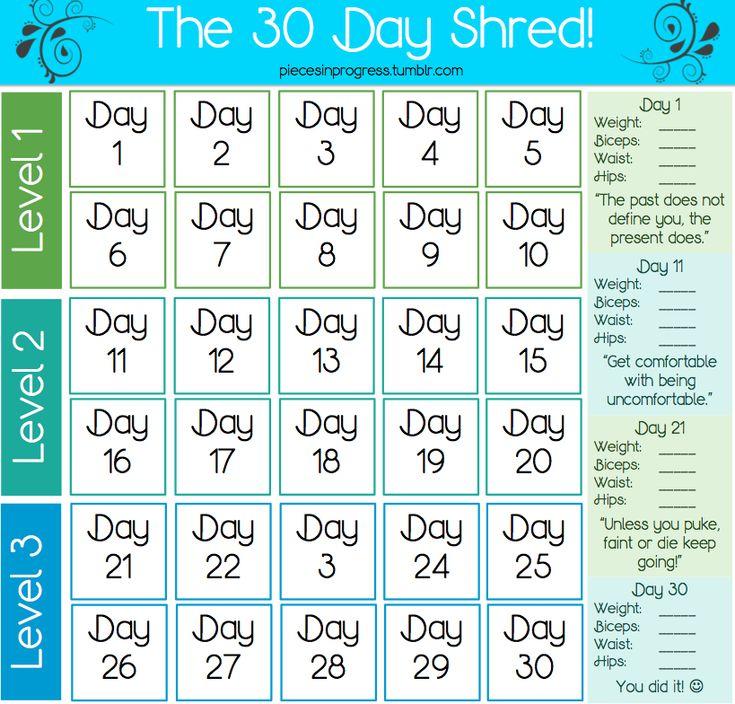 15 best Jillian Michael's 30 Day Shred images on Pinterest