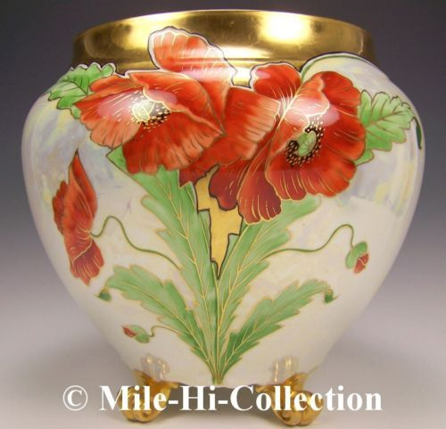 Details About Limoges France Hand Painted Poppies