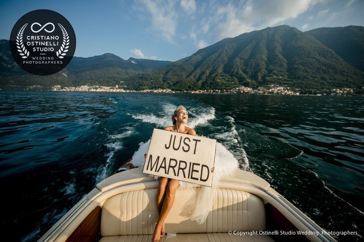just married lake como