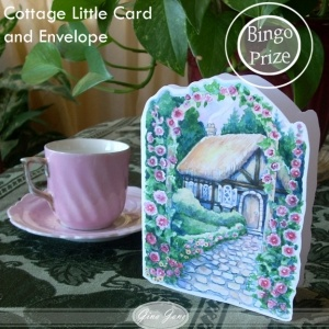 Printable, hand made, do it yourself, Cottage Garden Greeting Card with matching envlope - Perfect for Mother's Day, Blank Note Cards, Stationery, Thinking of You, Get Well Soon and more! Gina Jane Designs - DAISIE Company