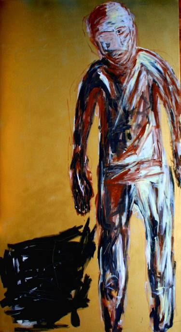 "Saatchi Art Artist Lopéz García; Painting, ""Step in (180 x 100 cm)"" #art"