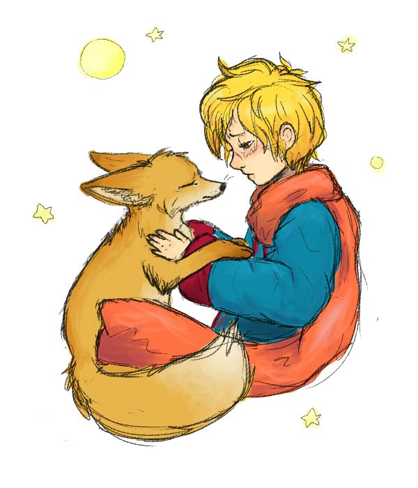I loved this Little Prince illustration with his fox.
