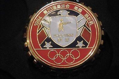 Rio 2016&LA 1984 Olympic Sponsor Coca Cola Coke Shooting Championship PinRare !