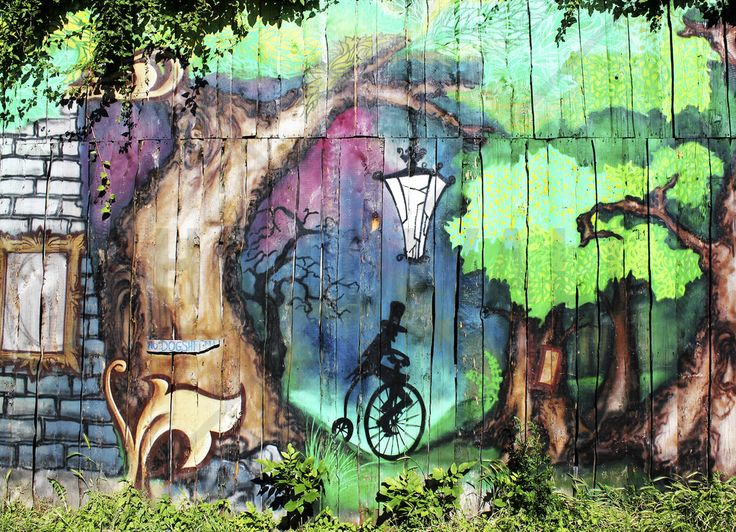 Mystery Forest Graffiti - Fototapeter & Tapeter - Photowall