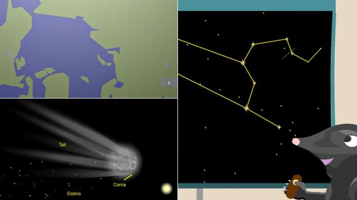 """While commonly referred to as """"shooting stars,"""" meteors and meteor showers are, in fact, unrelated to stars. Instead, these streaks of light are the glow of interplanetary debris crashing into Earth's atmosphere. In this animated video adapted from NASA, learn about these """"shooting stars"""" and the reasons behind annual meteor showers."""