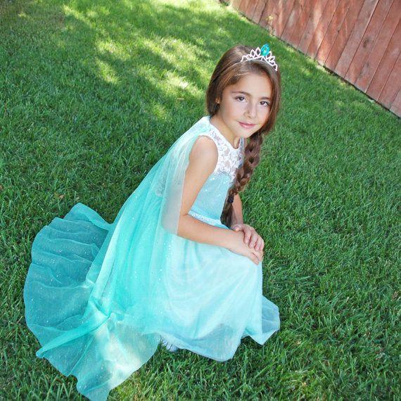 Queen Elsa dress - Iced mint on Etsy, $29.95