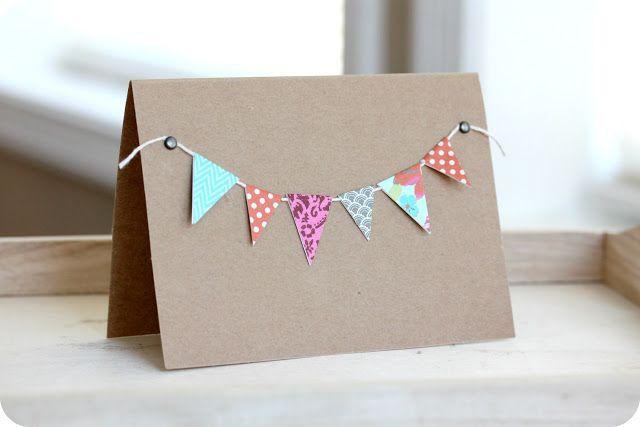 little lovelies: tutorial: easy banner cards