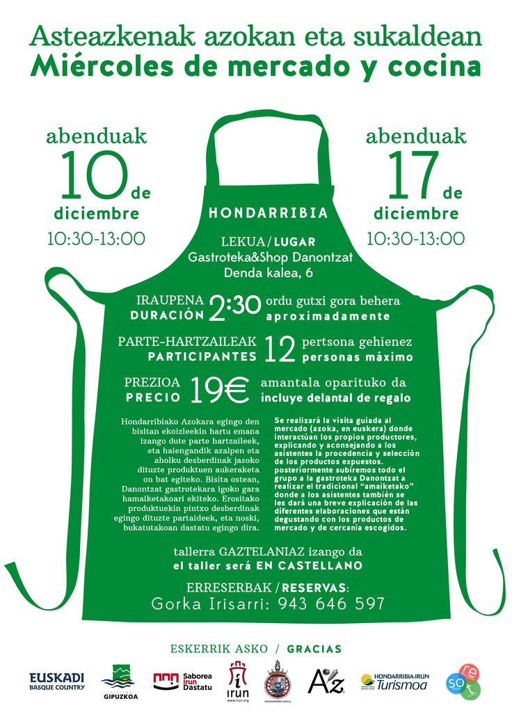 Asteazkenak azokan eta sukaldean #Hondarribia #posters #Christmas