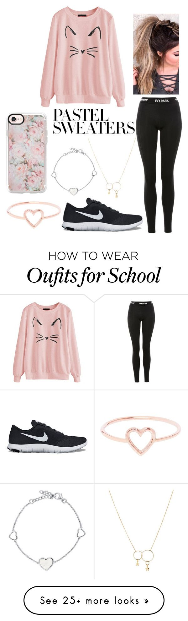 """""""Pastel Sweaters contest #2"""" by mina-lisha on Polyvore featuring Topshop, Casetify, NIKE, Zimmermann, Love Is and BERRICLE"""