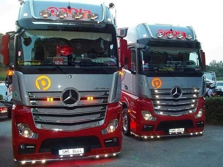Onwijs Mercedes Benz Actros Mp4 Gigaspace | Mercedes-Benz | Mercedes lkw EG-77