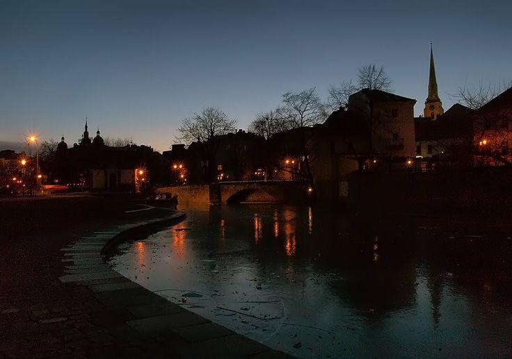 Noční Plzeň, night Pilsen