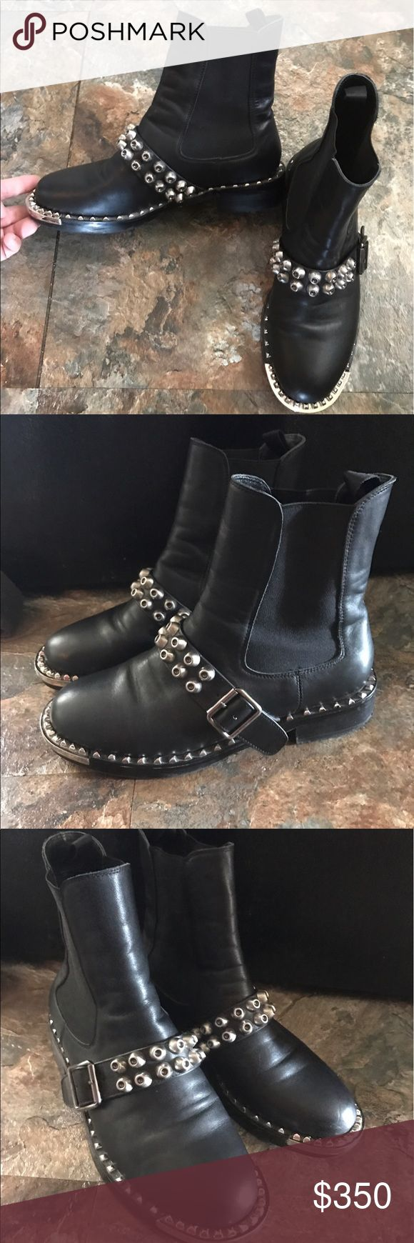 "Miu miu studded ankle boots Gorgeous pair of miu miu booties the heel is 1.5"" only visible wear  is to the bottoms other then that in really good shape ! Miu Miu Shoes Ankle Boots & Booties"