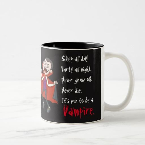 Black Fun to be a Vampire mug (man)