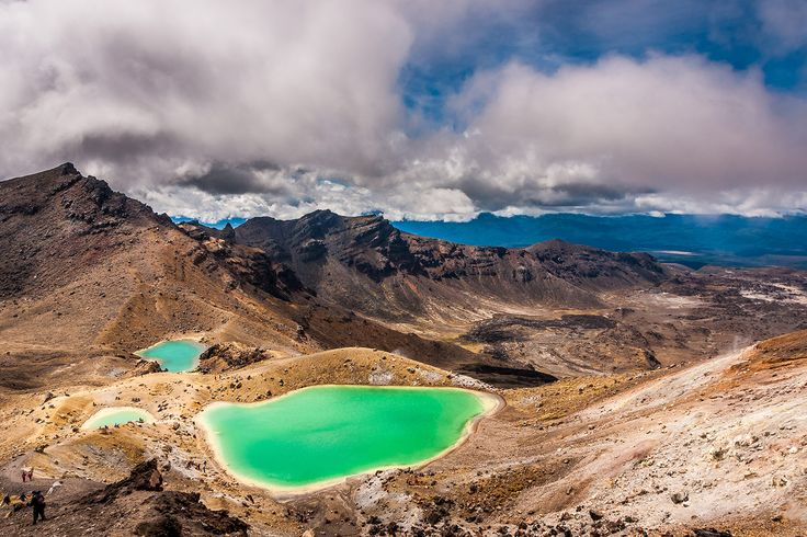 The Emerald Lakes, seen here from the Red Crater, are among the most dazzling sights along New Zeala... - Provided by Lonely Planet