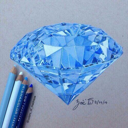 Blue diamond drawing                                                                                                                                                                                 More