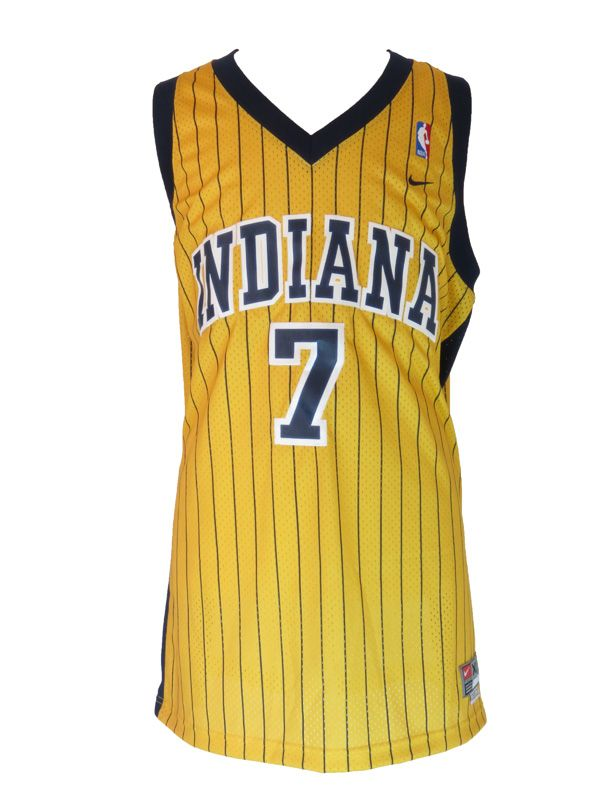 $25. Vintage Indiana Pacers Jermaine O'Neal Yellow Jersey