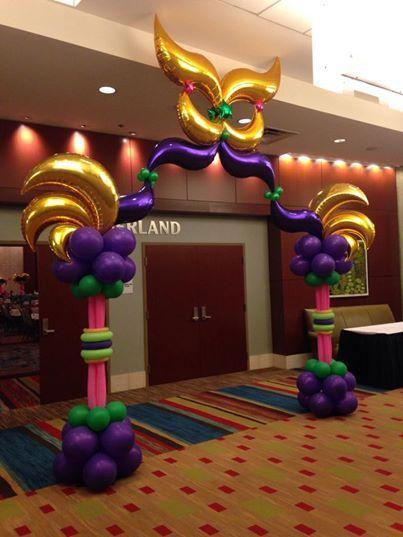 Mardi Gras Balloon Arch