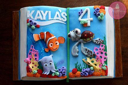 Nemo & Friends Book Cake