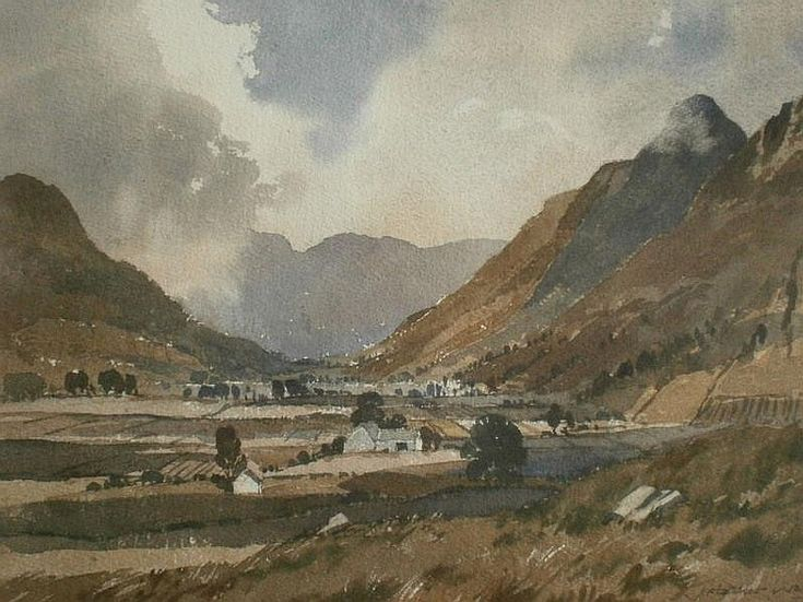 James Fletcher-Watson (1913-2004). Langdale Pikes - by Golding Young & Mawer