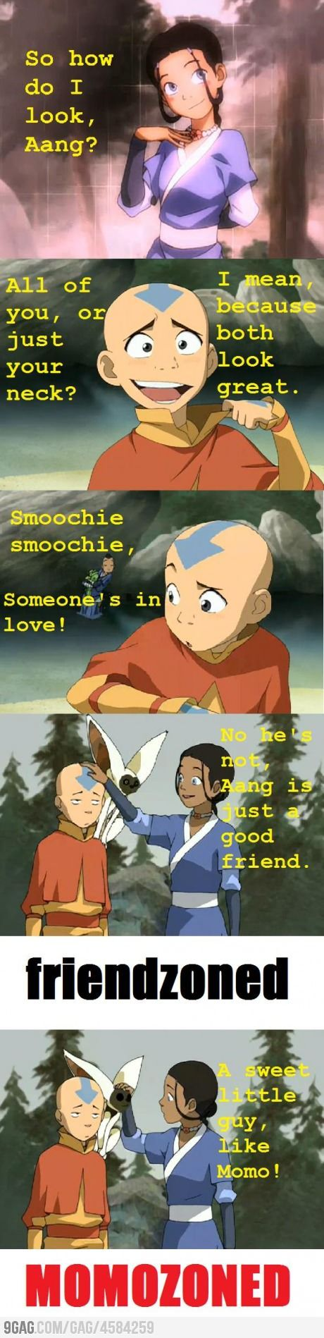 Katara, you're such a little hoebag!! momozoning the avatar. i mean come on.