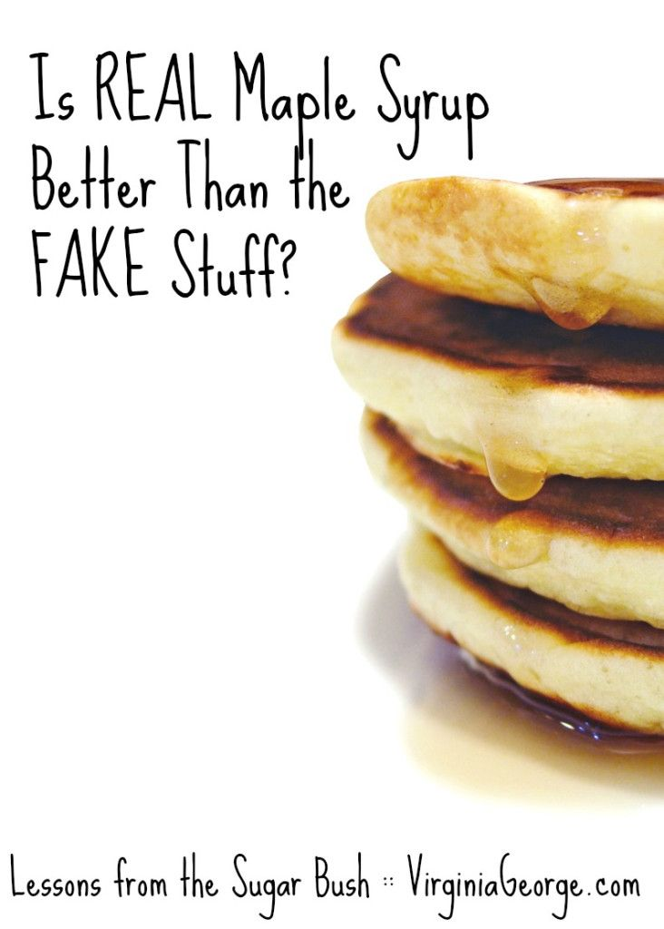What is the difference between REAL maple syrup and all the pancakes syrups found at the grocery store? Is REAL maple syrup really that much better? Find out at VirginiaGeorge.com